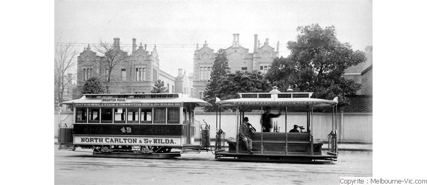 Old tram in St Kilda nr 1900